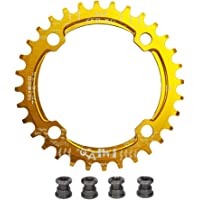 UPANBIKE Fiets Smalle Brede Kettingblad 104 BCD Ronde Vorm Enkele Ketting Ring 32 T 34 T 36 T 38 T