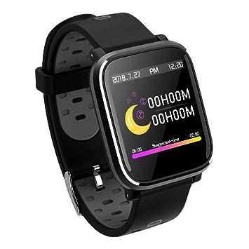 Yokimico Montre Connectée Bluetooth Smartwatch Bracelet Connecté Podomètre Etanche IP67 Homme Femme Sport Fitness Tracker d