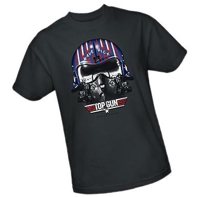 e90ea769 Amazon.com: Maverick Helmet - Top Gun Adult T-Shirt: Clothing