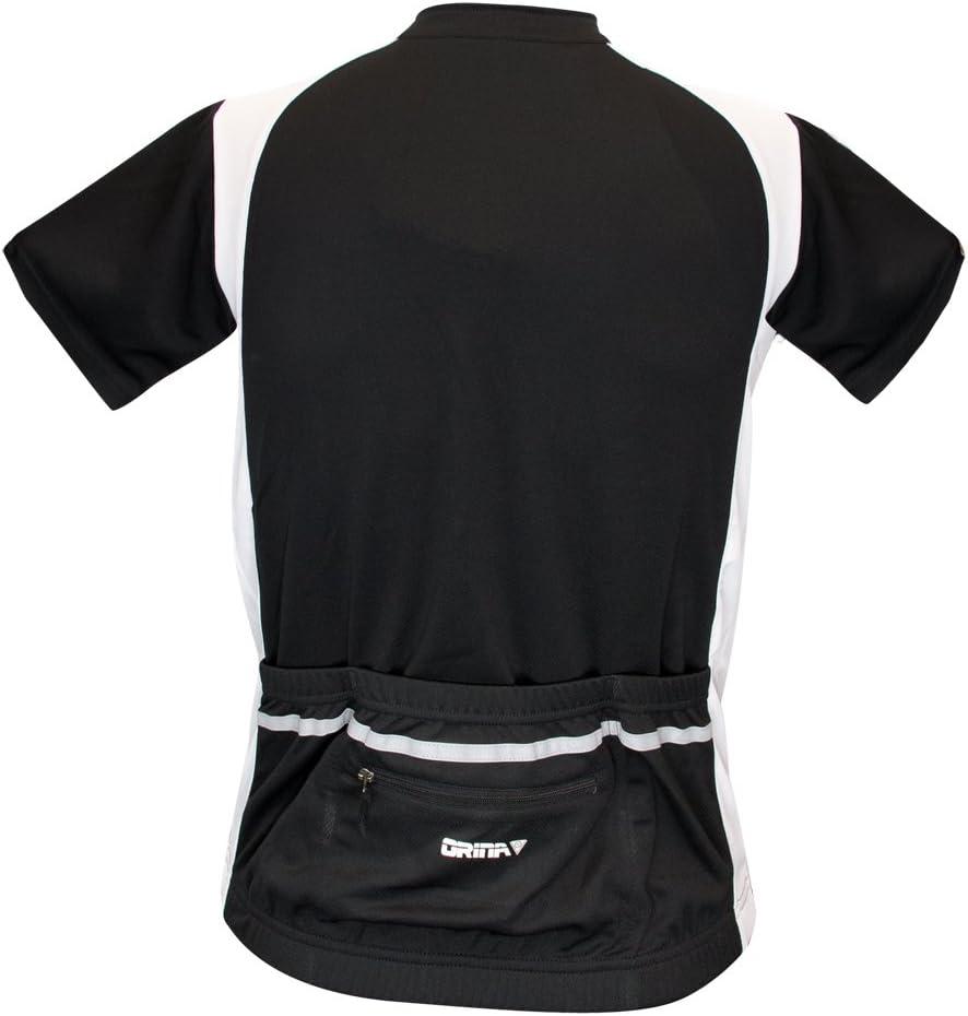 Radtrikot Fahrradtrikot Rennrad MTB Trikot schwarz Microfaser R/ückentasche