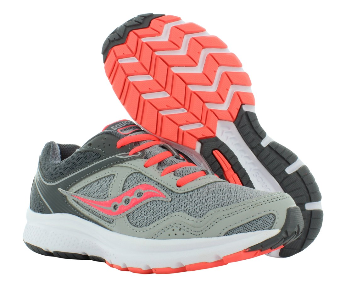 Saucony Women's Grid Cohesion 10 Grey/Coral Ankle-High Running Shoe - 9.5M by Saucony (Image #2)
