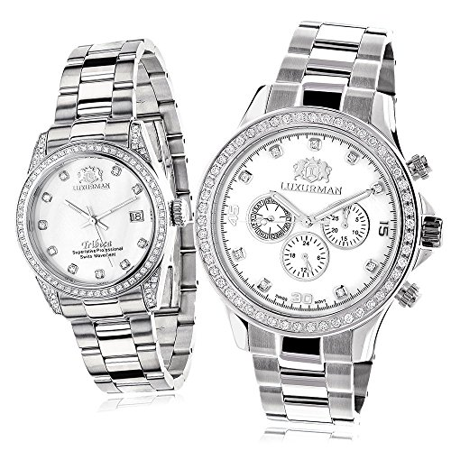 His & Hers Luxurman Watches - 61fqgT 4EuL - His & Hers Luxurman Watches