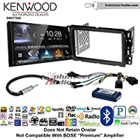 Volunteer Audio Kenwood DMX7704S Double Din Radio Install Kit with Apple CarPlay Android Auto Bluetooth Fits 2013-2014 Buick Enclave, 2013-2014 Chevrolet Traverse (Bose and Onstar)
