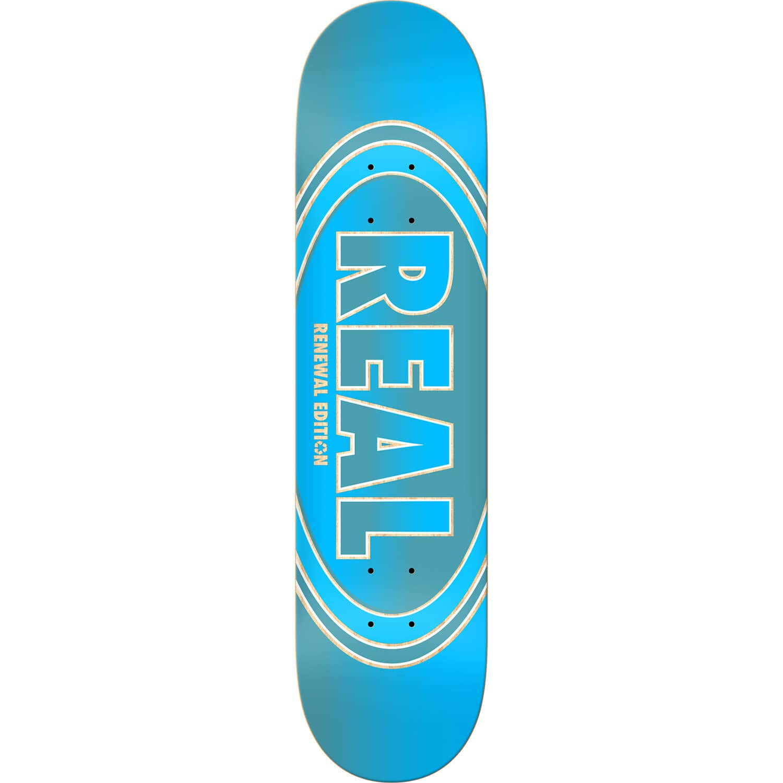 Real SkateboardsクロスフェードRenewalブルースケートボードDeck – 8.25