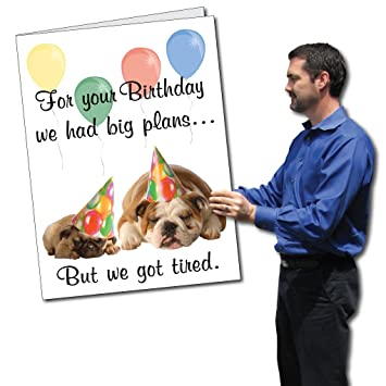 Amazon.com: 2 'x 3' gigante tarjeta de cumpleaños ...