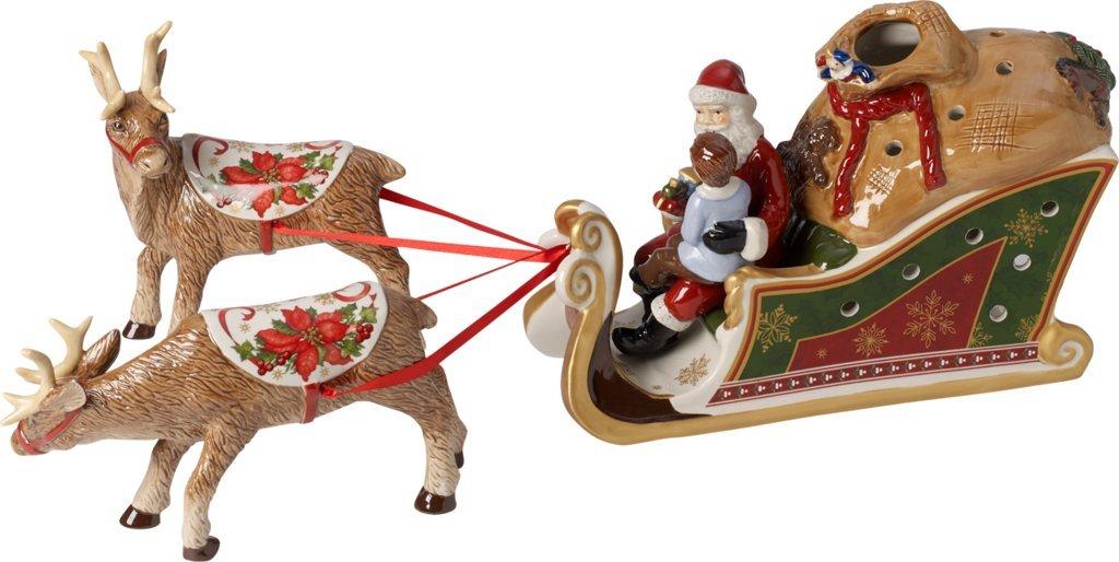 Villeroy & Boch Schlitten Santas, 31 x 31 x 21 cm, bunt, Hartporzellan