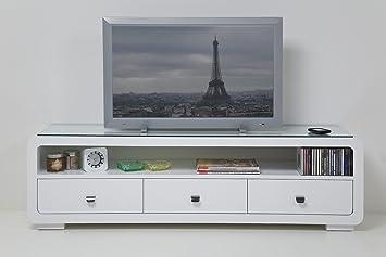 Tv bank design  White Club TV Bank mit 3 Schubladen TV Möbel TV Rack by Kare ...