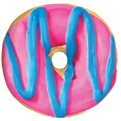 """iscream Sugarlicious! Frosting Scented Blue and Pink Donut 16"""" Photoreal Microbead Pillow: Home & Kitchen"""