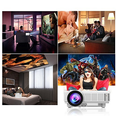 DRJ-2018-Upgraded-10-Lumens-4Inch-Mini-Projector-with-170-Display-40000-Hour-LED-Full-HD-Video-Projector-1080P-Compatible-with-Amazon-Fire-TV-Stick-HDMI-VGA-USB-AV-SD-for-Home-Theater