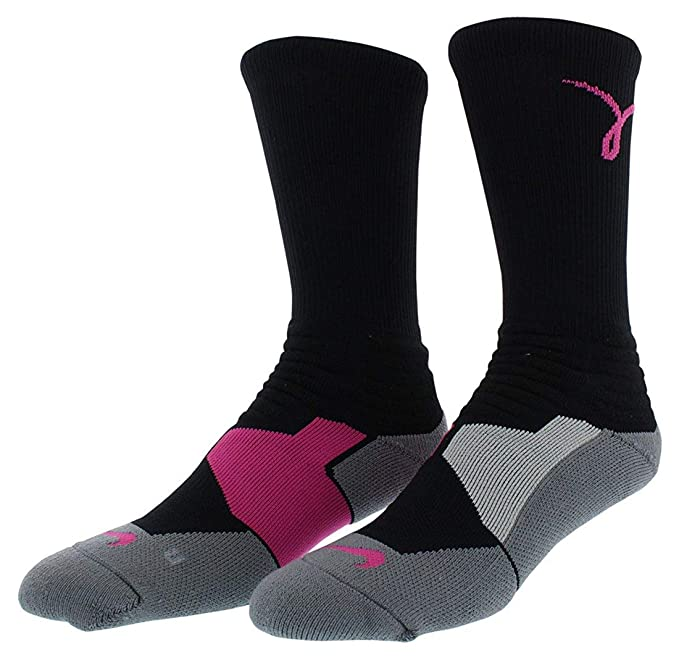 9af2c3e403a Nike Men s Hyper Elite Cushioned Kay Yow Basketball Crew Socks at Amazon  Men s Clothing store