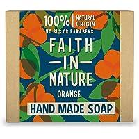 Faith In Nature Natuurlijke sinaasappelhandzeep, ontgiftend, veganistisch en dierproefvrij, vrij van parabenen en SLS…