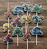 12 Cupcake Toppers DINOTRUX