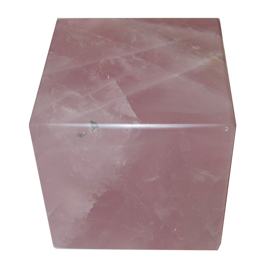 Rose Quartz Polygon 52 Big Hunk Chunk of Burning Love Crystal Pink Cube Block Square Stone 2.1'' (3.9'')