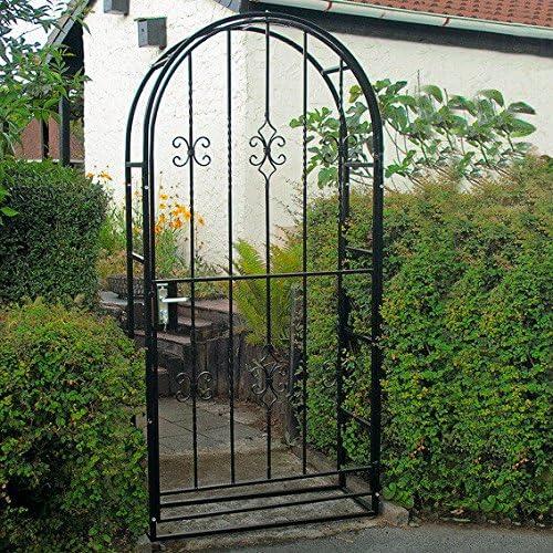 Gärtner Pötschke – Puerta para jardín de hierro de portal: Amazon.es: Jardín