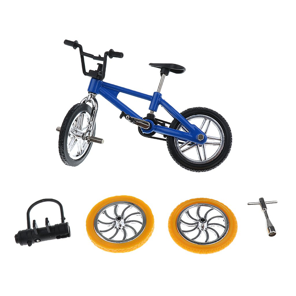 Finger Mountain Bike BMX Fixie Bicycle Creative Toy Gift- Blue Generic