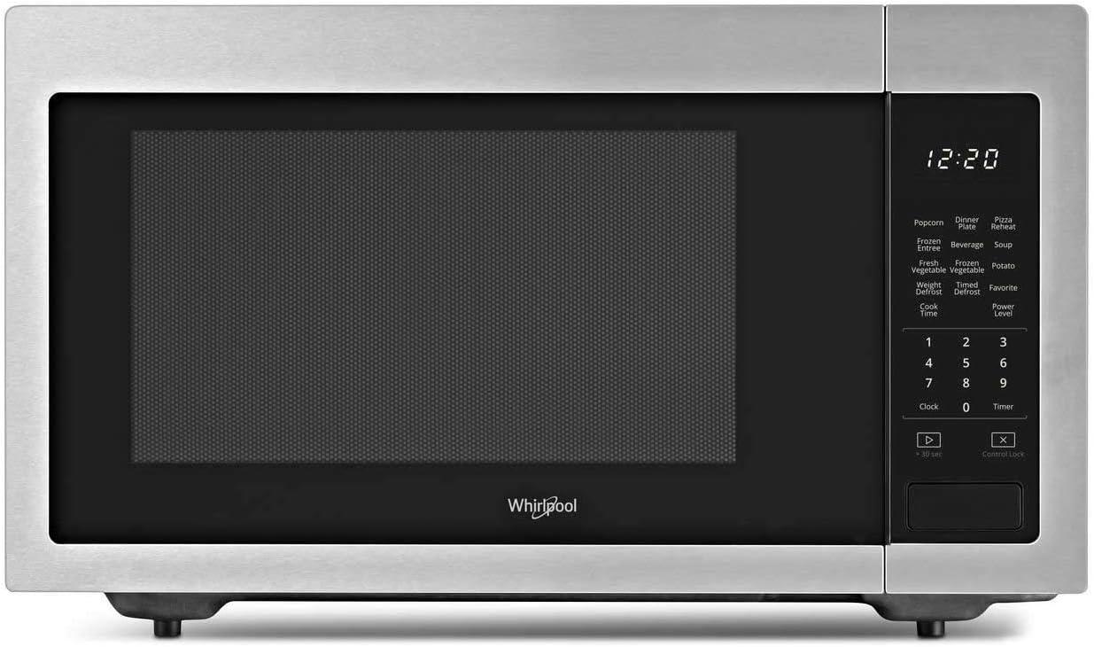Whirlpool 1.6 Cu. Ft. Countertop Microwave (Fingerprint Resistant Stainless Steel)