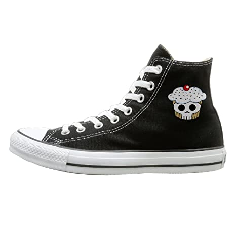 51e0b0a4ee8d SH-rong SKULL Cupcaks High Top Sneakers Canvas Shoes Design Sport Shoes  Unisex Style Size
