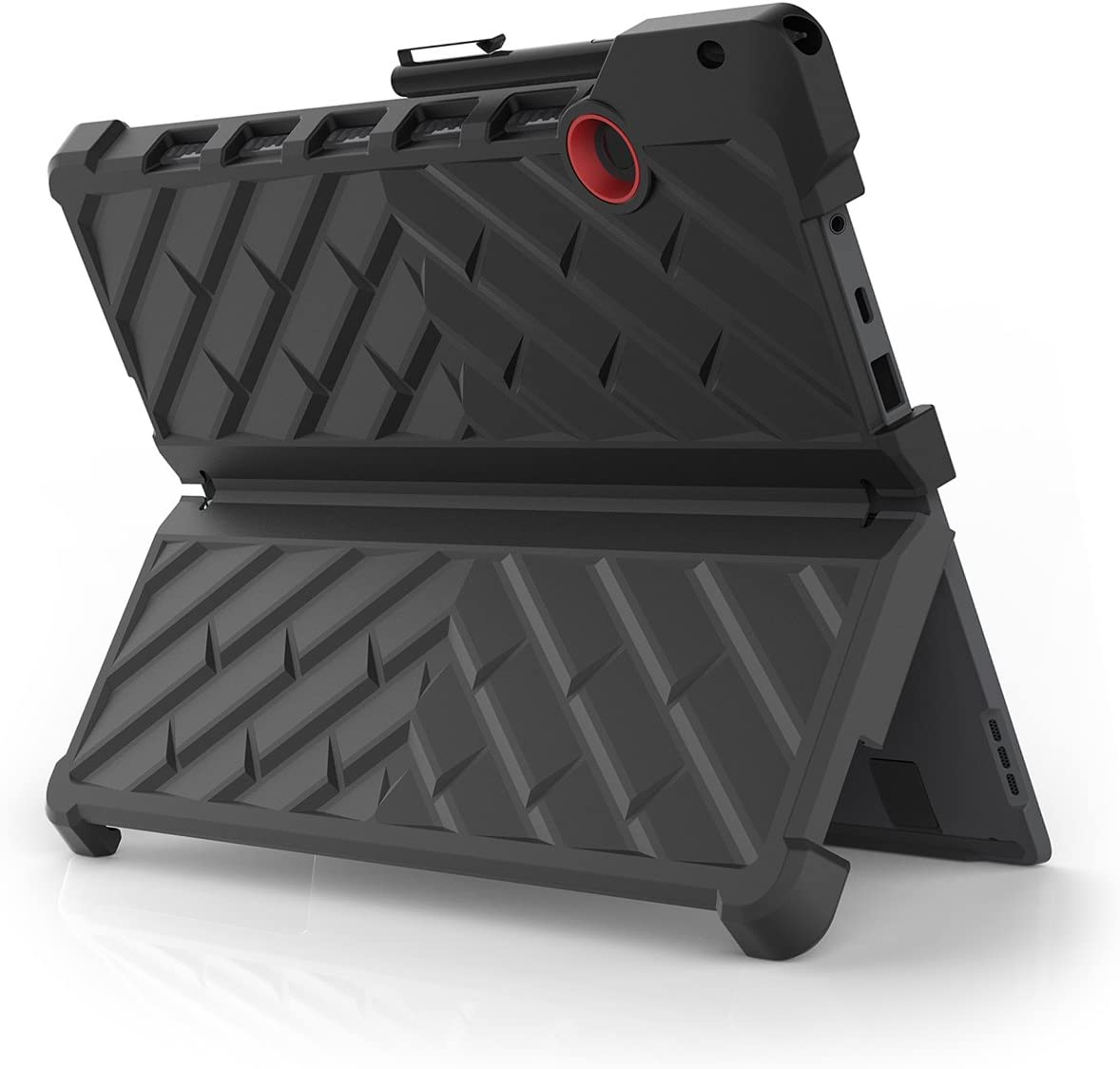 Gumdrop DropTech Case Designed for Lenovo Miix 720 2-in-1 Tablet for Commercial, Business and Office Essentials - Black/Red, Rugged, Shock Absorbing, Extreme Drop Protection