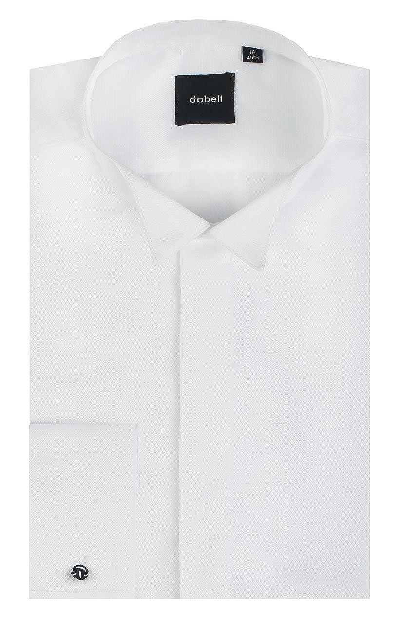 Col Cass/é Blanc Dobell Homme Chemise Habill/ée Jacquard 100/% Coton