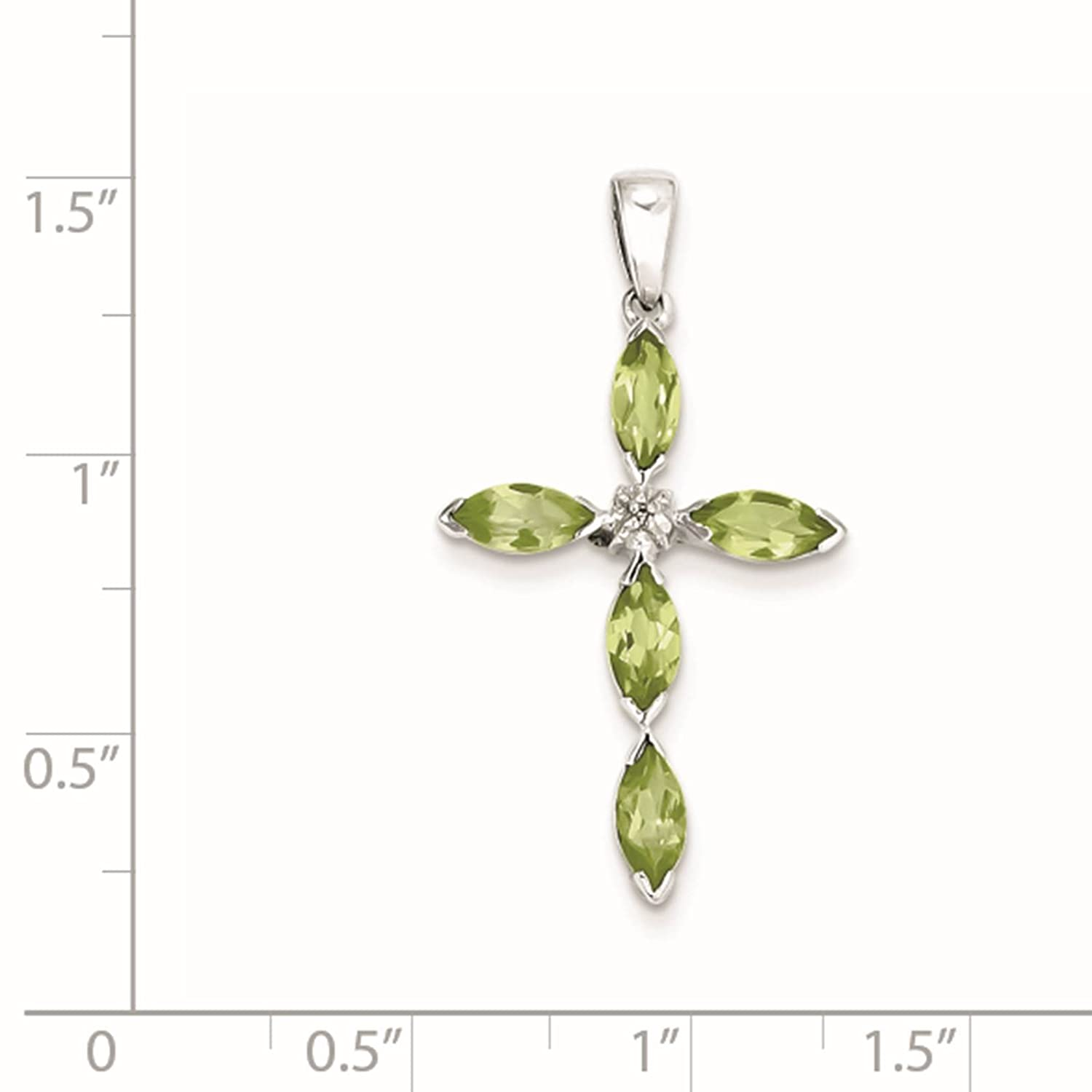 Bonyak Jewelry 18 Inch Rhodium Plated Necklace w// 4mm Faux-Pearl Beads and Maltese Cross