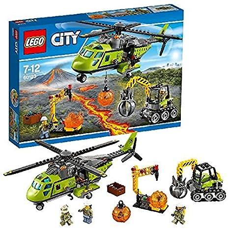Jeu City D'approvisionnement Lego De L'hélicoptère Du 60123 Construction Volcan 45j3ARL