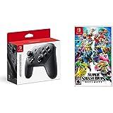 Nintendo Switch Pro Controller Bundle with Super Smash Bros. Ultimate
