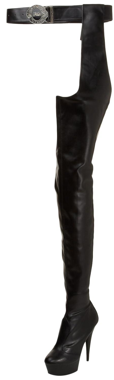 Pleaser Women's Delight-5000/B/PU Boot B000YQXQXS 14 B(M) US Black