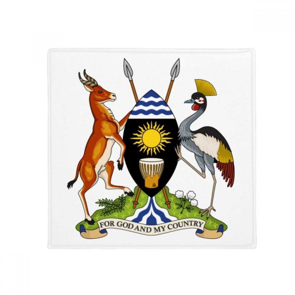 DIYthinker Uganda Africa National Emblem Anti-Slip Floor Pet Mat Square Home Kitchen Door 80Cm Gift