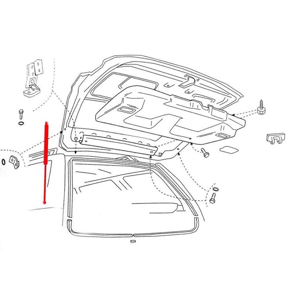 PAIR MASO 2pcs NEW REAR UPPER TAILGATE BOOT GAS STRUTS BHE760020