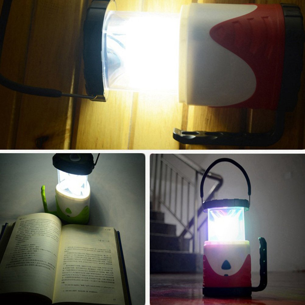 Vinmax LED Camping Lantern Tent Light 5W LED bright Rechargeable - Portable for Outages, Emergencies, Hurricanes, Hiking Multi-functional Bright Lamp Emergency Torch Light (Red)