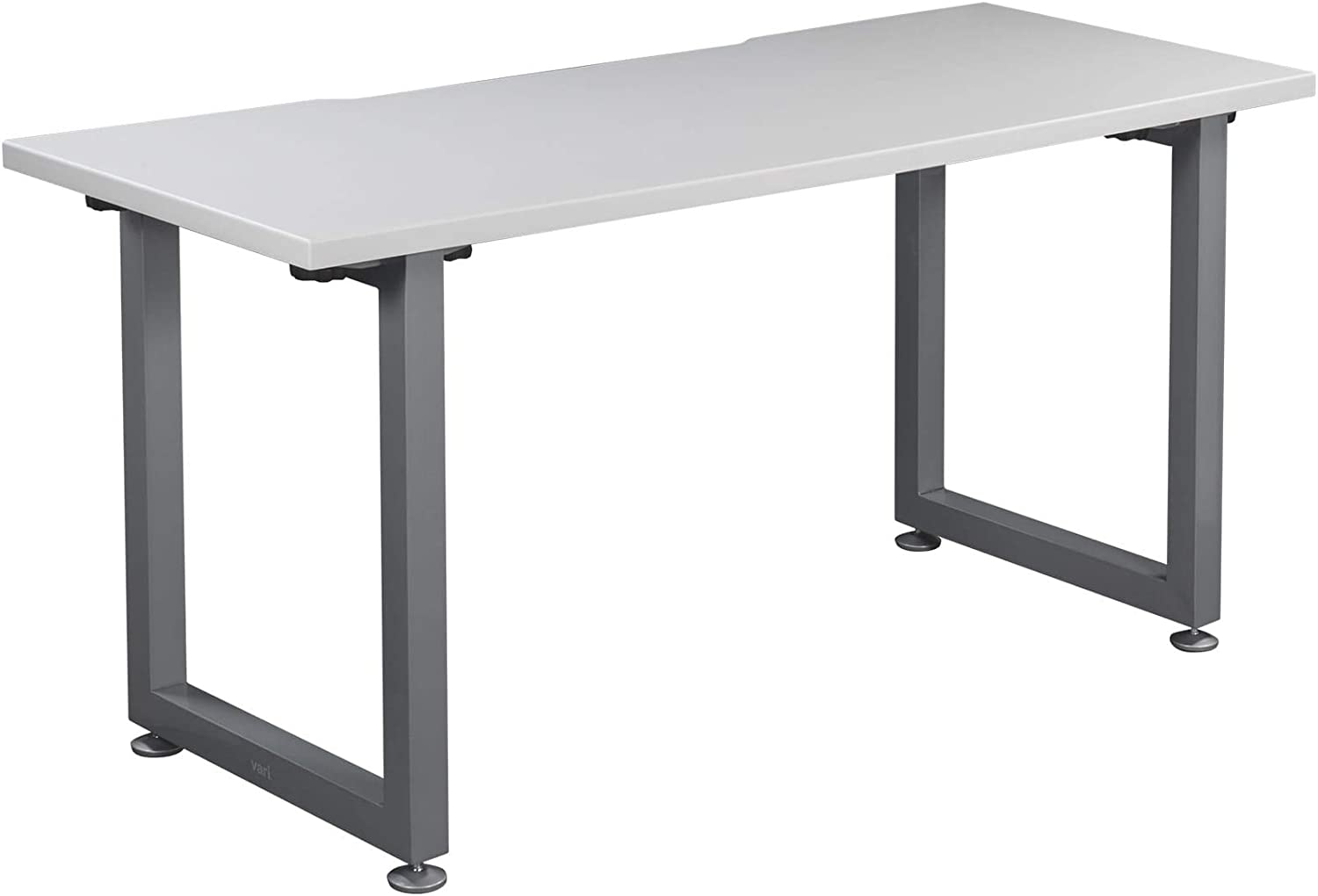 Vari Table (60x24) - Office Desk with Durable Finish & Cable Management Tray - (White)