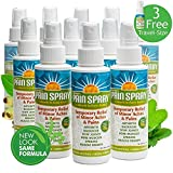 Premiere's Pain Spray Mist 12-Pack (Includes 3 Free Travel Bottles), Spray On Remedy for Sore Muscles, Herbal Medicine for Arthritis, Natural Treatment for Sore Neck and Shoulders