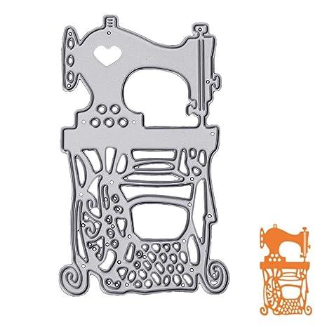 Amazon.com: liyudl máquina de coser Metal Muere plantillas ...