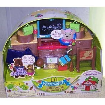 This Item Lil Woodzeez Classroom Playground Set