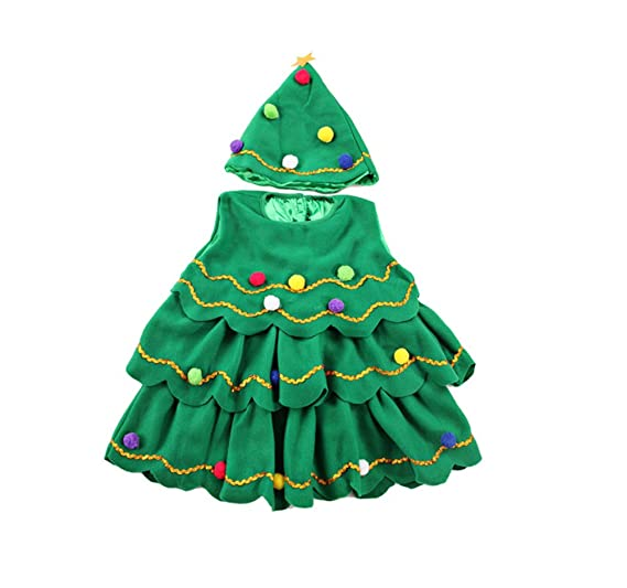 christmas dress xmas tree green for 1 14 years girls 35124 - Green Christmas Dress