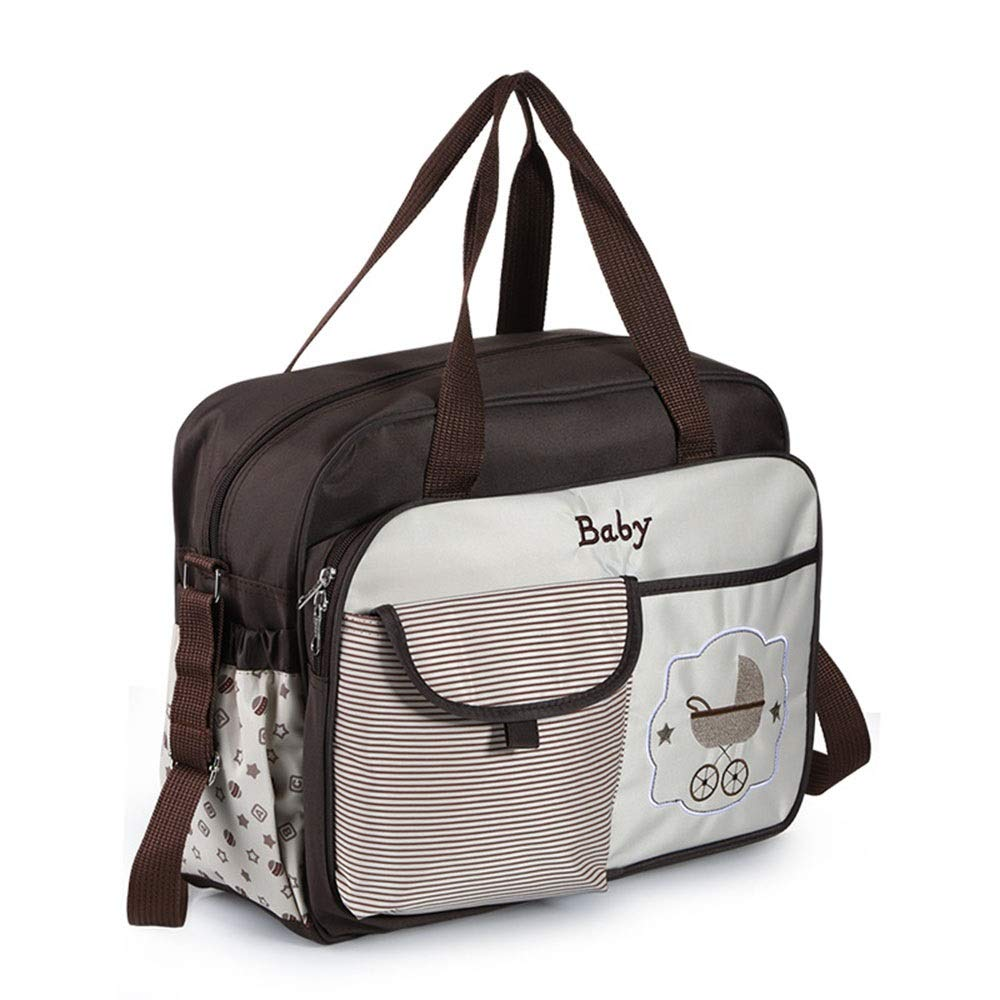 Stroller Organizer Baby Stroller Organizer Bag for Mom Also Converts to A Stylish Shoulder Bag Waterproof Diaper Bag with Changing Pad for Mom Fits All Baby Stroller Models Parents Stroller Organizer by DHUYUN (Image #2)