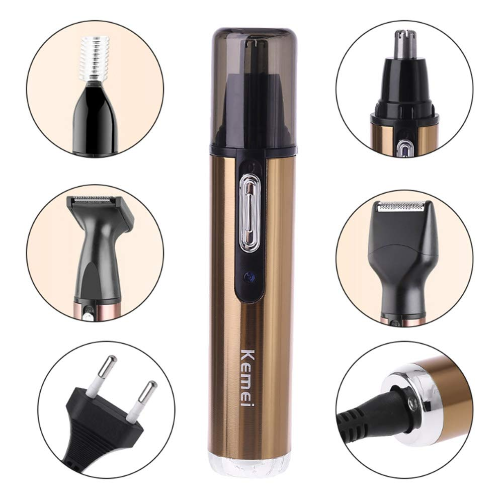LUBANF Electricface Ear Nose Eyebrow Beard Hair Trimmer Shaver Razor Removal Tools Home Personal Care Appliances