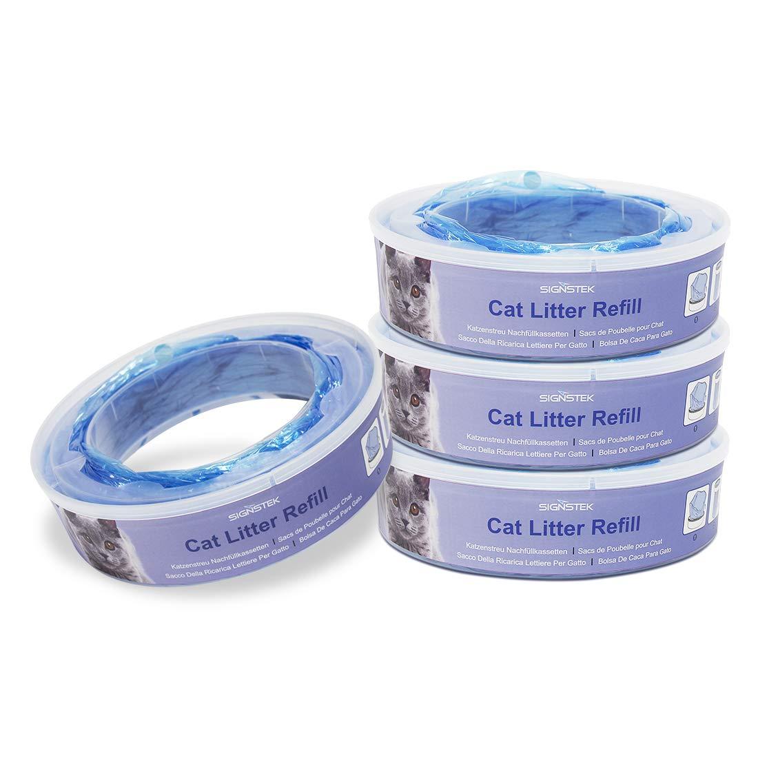 Signstek Sistema de eliminaci/ón de basura para gatos Casetes de repuesto para el contenedor de basura II paquete de 4