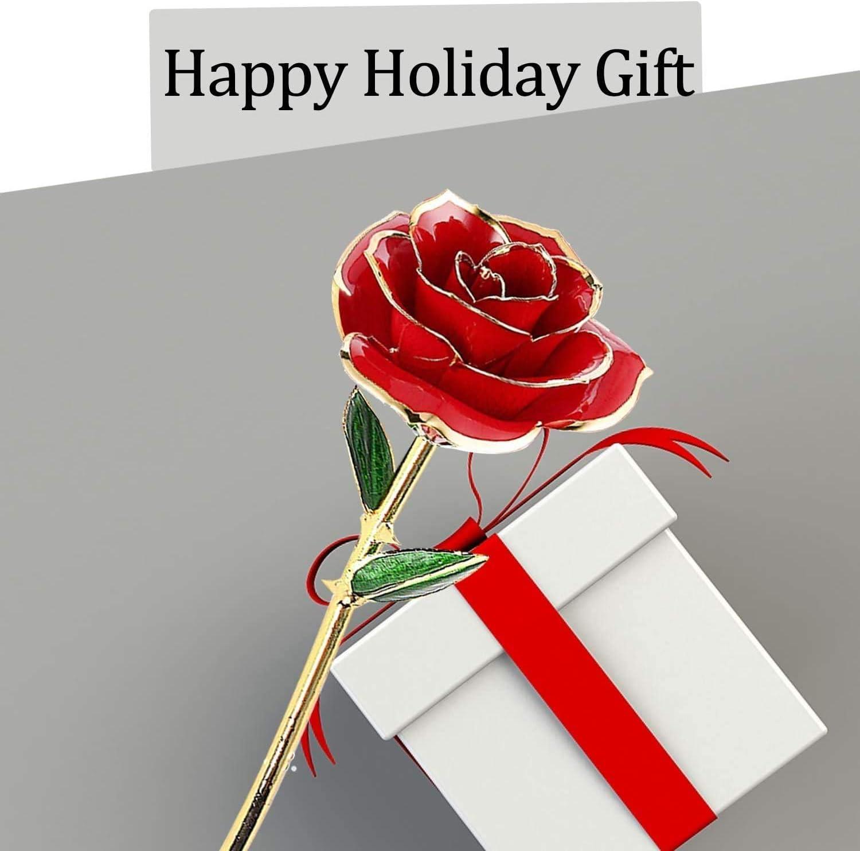 ONMET Rosa 24K Rosas Eternas con Tarjetas para Regalos y Caja de Regalo Regalos Dia de la Madre Regalo para Madre Regalo San Valentin Regalo de Cumplea/ños