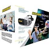 Visore 3D Bimbo + Giochi Educativi Inglese, Spagnolo… [ Regali Originali ] - Giocattoli Bambino 5 6 7 8 9 10 11 12 Anni - VR Occhiali Realtà Virtuale