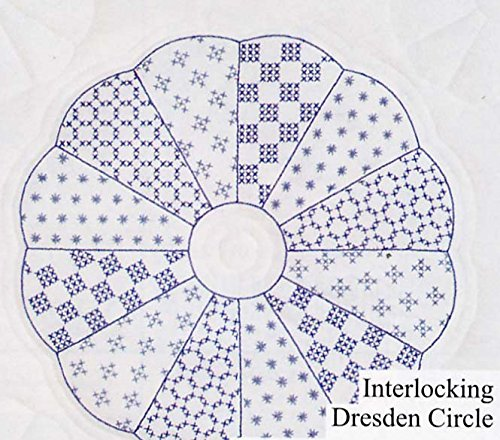 "Jack Dempsey Stamped White Quilt Blocks 18""X18"" 6/Pkg-Int..."