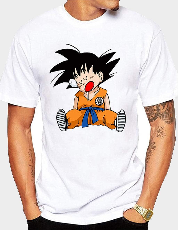 Camiseta Dragon Ball Hombre,Camiseta Dragon Ball Adolescentes,Casual Manga Corta Impresi/ón 3D T-Shirt Abecedario Camisa de Verano Regalo Camisetas Musculosa y Talla Grande Tops