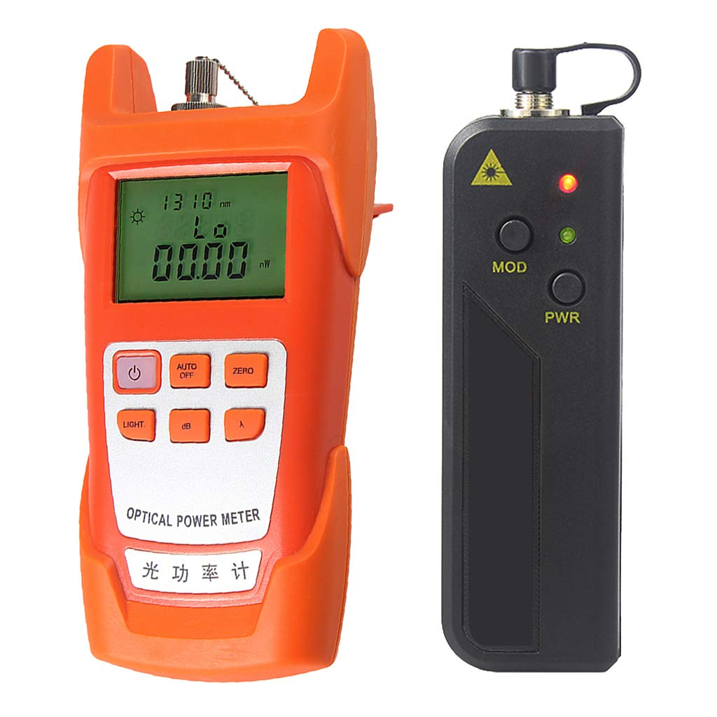 SM SunniMix A Set -70dBm~+10dBm 850~1625nm Optical Power Meter Tester FC SC Handheld Optical Power Meter + 10mW Visual Fault Locator Pen (VFL)