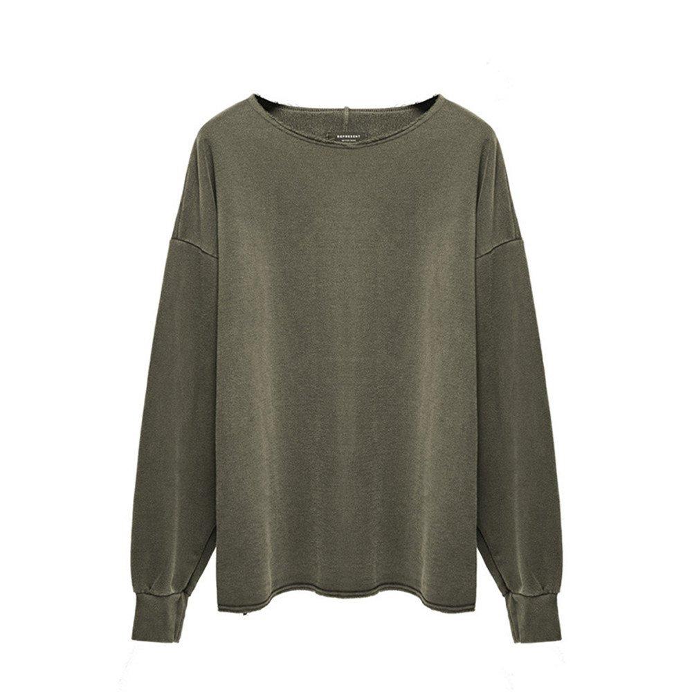 Lisux männer - Casual Mode Pullover  Herren Casual t - Shirt ärmel Kopf männer - Pulli,Army Grün,s