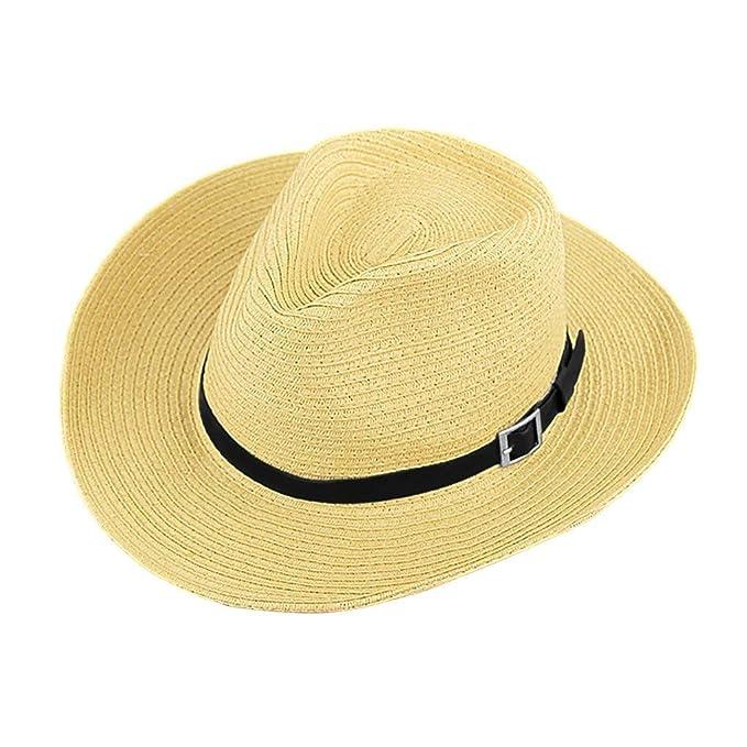 Sombrero De Paja Unisex Verano Sombrero De Panamá Hombre Señoras Sombrero  para De Especial Estilo Fiesta cce873607d9a