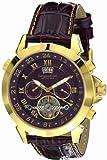 Calvaneo 1583 Herren-Armbanduhr Astonia GOLD VIOLET Analog Automatik Leder lila 107634