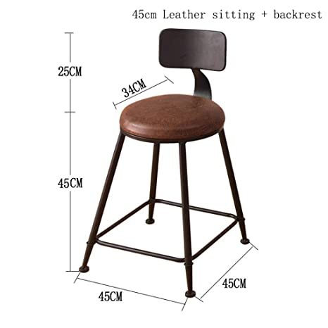 Enjoyable Amazon Com Mustbe Strong Retro Kitchen Stools With Metal Machost Co Dining Chair Design Ideas Machostcouk