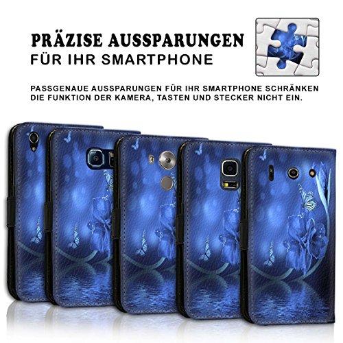 Wallet Book Style Flip Handy Tasche Case Schutz Hülle Schale Motiv Etui für Apple iPhone 6 / 6S - Design Flip MVD431