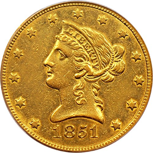 1851 O $10 Liberty Gold Ten Dollar XF45 PCGS (David Lawrence Rare Coins)