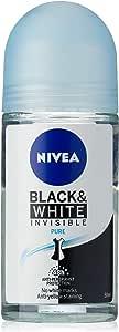 NIVEA Black & White Invisible Pure Roll On Anti-Perspirant Deodorant, 50ml